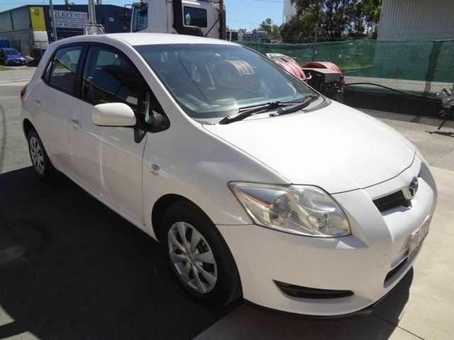 Used Toyota Corolla ZRE152R MY09 Ascent Coopers Plains, 2009 Toyota Corolla ZRE152R MY09 Ascent White 4 Speed Automatic Hatchback