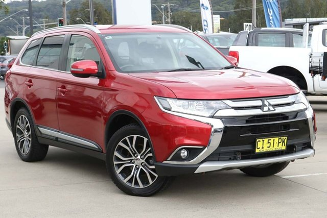 Used Mitsubishi Outlander ZK MY16 LS 4WD West Gosford, 2016 Mitsubishi Outlander ZK MY16 LS 4WD Red 6 Speed Constant Variable Wagon