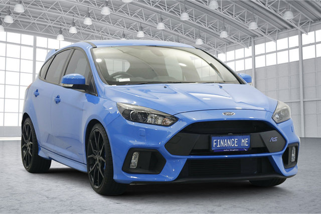 Used Ford Focus LZ RS AWD Victoria Park, 2017 Ford Focus LZ RS AWD Blue 6 Speed Manual Hatchback