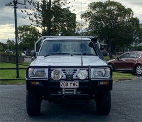 2001 Nissan Patrol GU DX White 5 Speed Manual Cab Chassis.