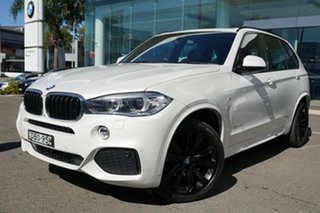 2015 BMW X5 F15 MY15 xDrive30d Mineral White 8 Speed Automatic Wagon.
