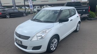 2013 Suzuki Swift FZ GA White 4 Speed Automatic Hatchback