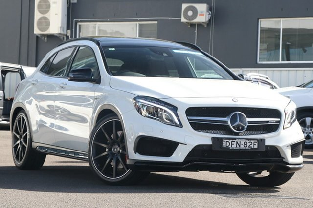 Pre-Owned Mercedes-Benz GLA-Class X156 806MY GLA45 AMG SPEEDSHIFT DCT 4MATIC Brookvale, 2015 Mercedes-Benz GLA-Class X156 806MY GLA45 AMG SPEEDSHIFT DCT 4MATIC White 7 Speed