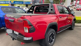 2018 Toyota Hilux GUN126R Rugged X Double Cab Olympia Red 6 Speed Sports Automatic Utility.