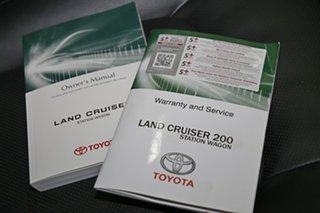 2018 Toyota Landcruiser VDJ200R Sahara Pearl White 6 Speed Sports Automatic Wagon