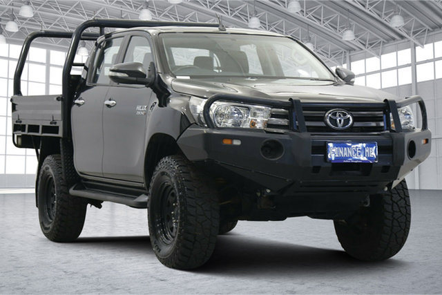 Used Toyota Hilux GGN125R SR Double Cab Victoria Park, 2016 Toyota Hilux GGN125R SR Double Cab Black 6 Speed Sports Automatic Utility