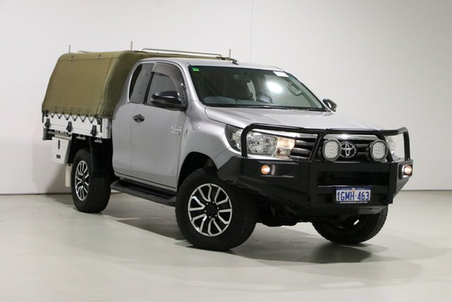 Used Toyota Hilux GUN126R MY17 SR (4x4) Bentley, 2017 Toyota Hilux GUN126R MY17 SR (4x4) Silver 6 Speed Automatic X Cab Cab Chassis