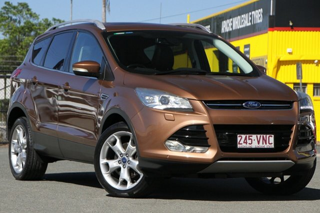 Used Ford Kuga TF Titanium PwrShift AWD Rocklea, 2013 Ford Kuga TF Titanium PwrShift AWD Burnished Glow 6 Speed Sports Automatic Dual Clutch Wagon