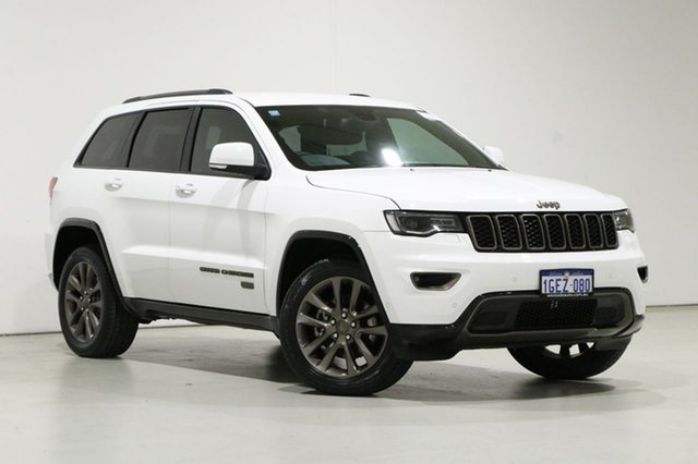 Used Jeep Grand Cherokee WK MY16 75th Anniversary (4x4) Bentley, 2017 Jeep Grand Cherokee WK MY16 75th Anniversary (4x4) White 8 Speed Automatic Wagon