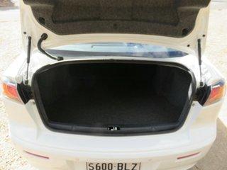 2013 Mitsubishi Lancer CJ MY13 LX White 6 Speed Constant Variable Sedan
