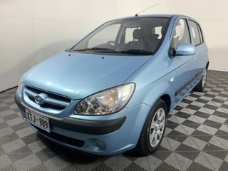 2008 Hyundai Getz TB MY07 SX Blue 4 Speed Automatic Hatchback.