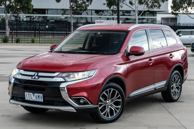 Used Mitsubishi Outlander ZK MY16 LS 4WD Narre Warren, 2016 Mitsubishi Outlander ZK MY16 LS 4WD Red 6 Speed Constant Variable Wagon