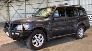 2005 Mitsubishi Pajero NP MY05 Exceed Blue 5 Speed Sports Automatic Wagon.