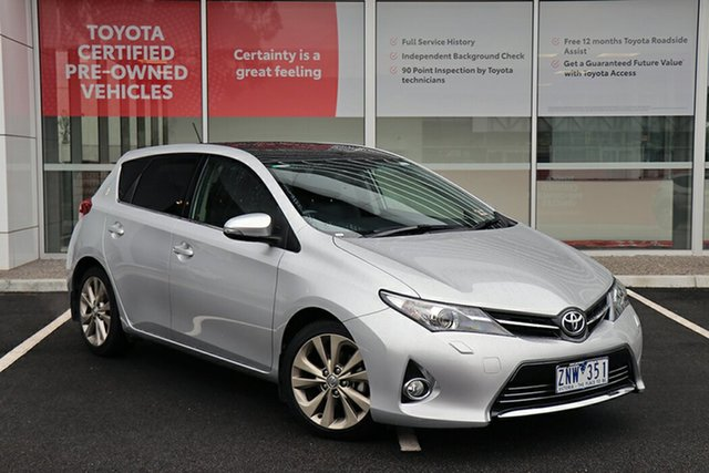 Pre-Owned Toyota Corolla ZRE182R Levin S-CVT ZR South Morang, 2013 Toyota Corolla ZRE182R Levin S-CVT ZR Silver 7 Speed Constant Variable Hatchback