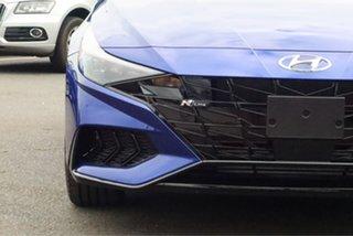 2021 Hyundai i30 CN7.V1 MY21 N Line D-CT Intense Blue 7 Speed Sports Automatic Dual Clutch Sedan.