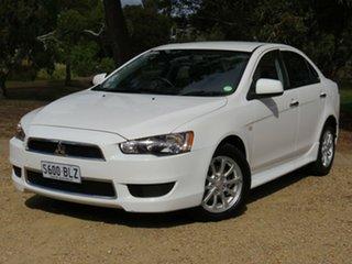 2013 Mitsubishi Lancer CJ MY13 LX White 6 Speed Constant Variable Sedan.