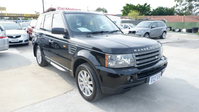 Used Land Rover Range Rover Sport L320 08MY TDV6 St James, 2008 Land Rover Range Rover Sport L320 08MY TDV6 Black 6 Speed Sports Automatic Wagon
