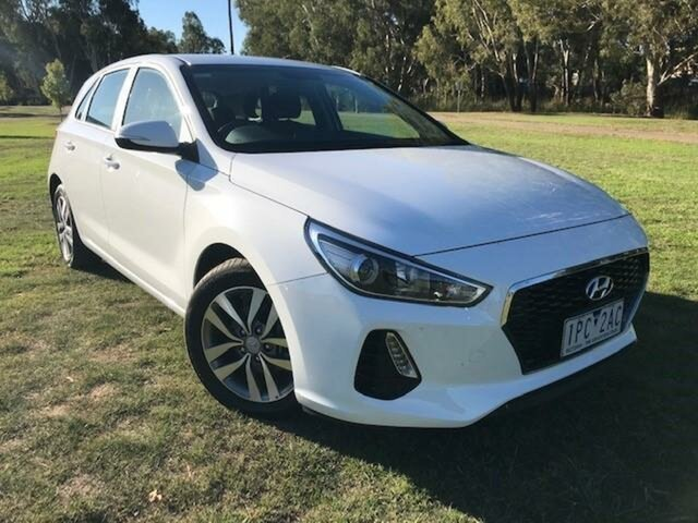 Pre-Owned Hyundai i30 PD2 MY19 Active Wangaratta, 2019 Hyundai i30 PD2 MY19 Active White 6 Speed Automatic Hatchback