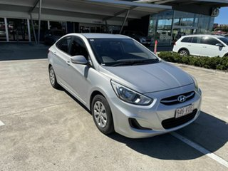 2014 Hyundai Accent RB2 MY15 Active Silver 4 Speed Sports Automatic Sedan.