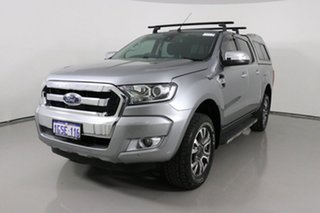 2016 Ford Ranger PX MkII XLT 3.2 (4x4) Silver 6 Speed Automatic Double Cab Pick Up.