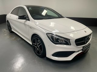 2018 Mercedes-Benz CLA-Class C117 808+058MY CLA250 DCT 4MATIC Sport White 7 Speed.
