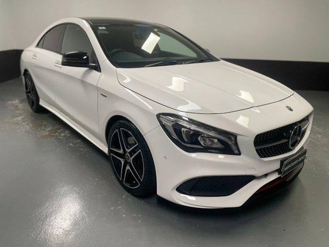 Used Mercedes-Benz CLA-Class C117 808+058MY CLA250 DCT 4MATIC Sport Newcastle West, 2018 Mercedes-Benz CLA-Class C117 808+058MY CLA250 DCT 4MATIC Sport White 7 Speed