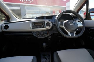2014 Toyota Yaris NCP130R YR Red 4 Speed Automatic Hatchback