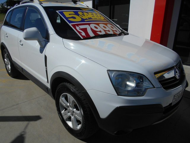 Used Holden Captiva CG MY10 5 Springwood, 2010 Holden Captiva CG MY10 5 White 5 Speed Manual Wagon