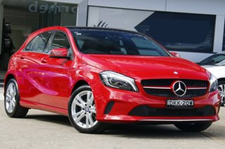 2016 Mercedes-Benz A-Class W176 807MY A180 D-CT Red 7 Speed Sports Automatic Dual Clutch Hatchback.