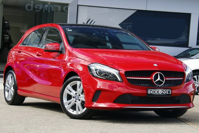Used Mercedes-Benz A-Class W176 807MY A180 D-CT Homebush, 2016 Mercedes-Benz A-Class W176 807MY A180 D-CT Red 7 Speed Sports Automatic Dual Clutch Hatchback