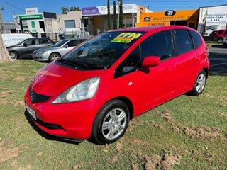 2010 Honda Jazz GE MY10 GLi Red 5 Speed Automatic Hatchback.