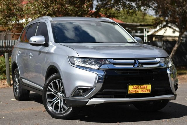 Used Mitsubishi Outlander ZK MY17 LS 4WD Safety Pack Melrose Park, 2016 Mitsubishi Outlander ZK MY17 LS 4WD Safety Pack Silver 6 Speed Constant Variable Wagon