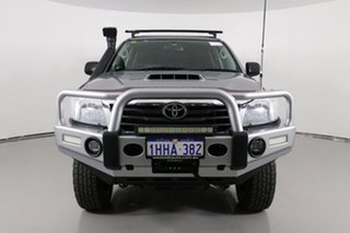 2015 Toyota Hilux KUN26R MY14 SR (4x4) Silver 5 Speed Manual Dual Cab Chassis.