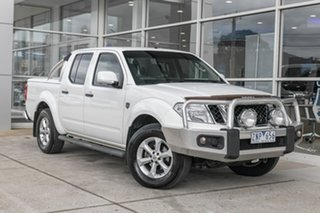 2012 Nissan Navara D40 S6 MY12 ST 25th Anniversary White 6 Speed Manual Utility.