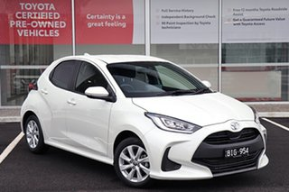 2020 Toyota Yaris Mxpa10R SX White 1 Speed Constant Variable Hatchback.
