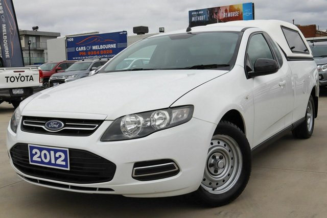 Used Ford Falcon FG MkII EcoLPi Ute Super Cab Coburg North, 2012 Ford Falcon FG MkII EcoLPi Ute Super Cab White 6 Speed Sports Automatic Utility