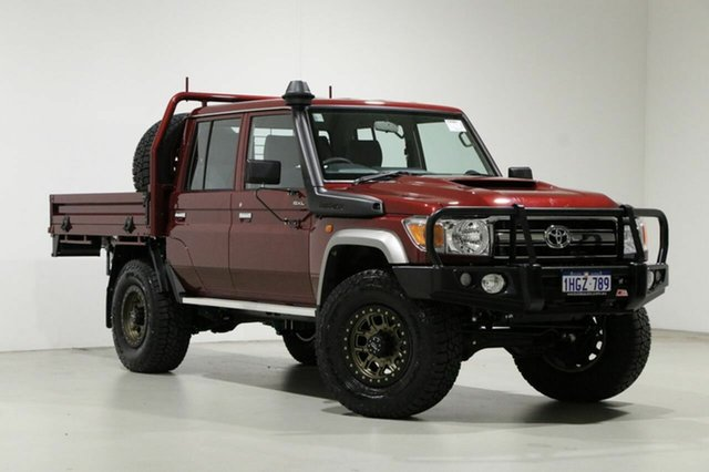 Used Toyota Landcruiser VDJ79R GXL (4x4) Bentley, 2020 Toyota Landcruiser VDJ79R GXL (4x4) Red 5 Speed Manual Double Cab Chassis