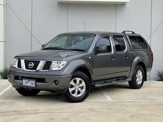 2012 Nissan Navara D40 S6 MY12 RX 4x2 Grey 6 Speed Manual Utility.