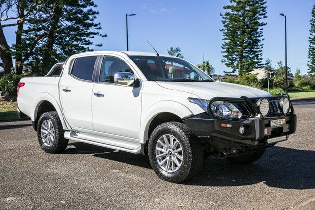 Used Mitsubishi Triton MQ MY17 GLS Double Cab Port Macquarie, 2017 Mitsubishi Triton MQ MY17 GLS Double Cab White 5 Speed Sports Automatic Utility
