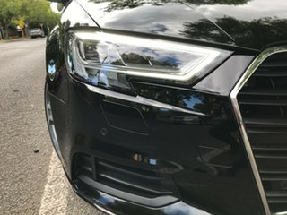 2016 Audi A3 8V MY16 Attraction S Tronic Black 7 Speed Sports Automatic Dual Clutch Cabriolet.