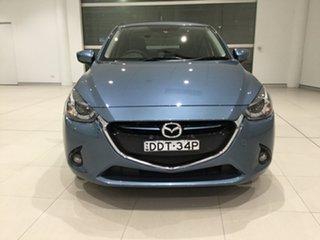 2016 Mazda 2 DJ2HAA Genki SKYACTIV-Drive Gunmetal Blue/dj 6 Speed Sports Automatic Hatchback