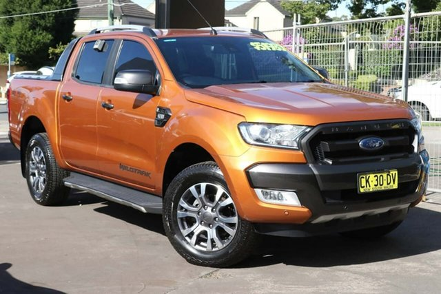 Used Ford Ranger PX MkII 2018.00MY Wildtrak Double Cab Waitara, 2017 Ford Ranger PX MkII 2018.00MY Wildtrak Double Cab Orange 6 Speed Sports Automatic Utility