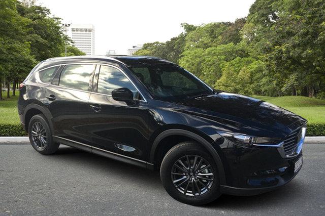 Demo Mazda CX-8 KG2WLA Sport SKYACTIV-Drive FWD Paradise, 2021 Mazda CX-8 KG2WLA Sport SKYACTIV-Drive FWD Jet Black 6 Speed Sports Automatic Wagon