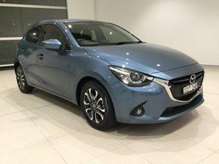 2016 Mazda 2 DJ2HAA Genki SKYACTIV-Drive Gunmetal Blue/dj 6 Speed Sports Automatic Hatchback.