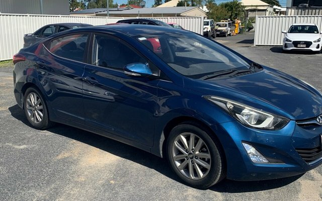 Used Hyundai Elantra MD3 Trophy North Rockhampton, 2014 Hyundai Elantra MD3 Trophy Blue 6 Speed Manual Sedan