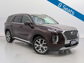2021 Hyundai Palisade LX2.V1 MY21 Highlander (8 Seat) Burgundy 8 Speed Automatic Wagon.
