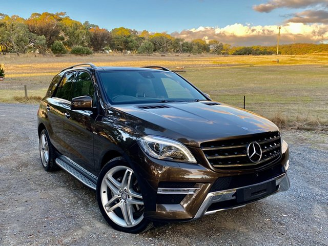 Used Mercedes-Benz M-Class W166 ML350 BlueTEC 7G-Tronic + Reynella, 2014 Mercedes-Benz M-Class W166 ML350 BlueTEC 7G-Tronic + Brown 7 Speed Sports Automatic Wagon