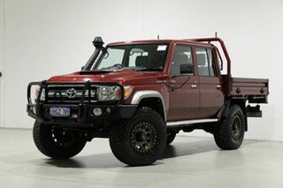 2020 Toyota Landcruiser VDJ79R GXL (4x4) Red 5 Speed Manual Double Cab Chassis.