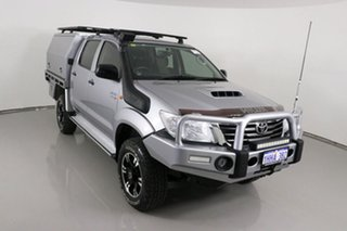 2015 Toyota Hilux KUN26R MY14 SR (4x4) Silver 5 Speed Manual Dual Cab Chassis