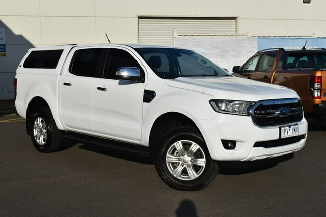 Used Ford Ranger PX MkIII 2019.00MY XLT Essendon Fields, 2018 Ford Ranger PX MkIII 2019.00MY XLT White 6 Speed Manual Utility